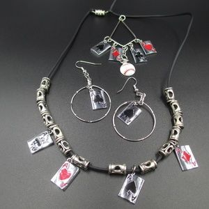 Jewelry - Necklace Earrings & Pendant Ace Cards Jewelry Set